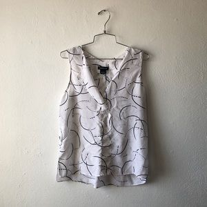 Trouve white silk tank top